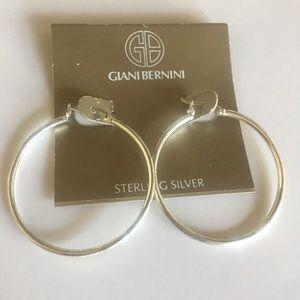 """Sterling Silver 925 Hoop Earrings 1.5"""" NWT NEW"""